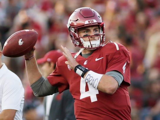 Washington State quarterback Luke Falk won the Burlsworth