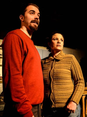 """Jeff Tagliaferro and Amoreena Wade star in the KNOW Theatre production of """"Sight Unseen."""""""