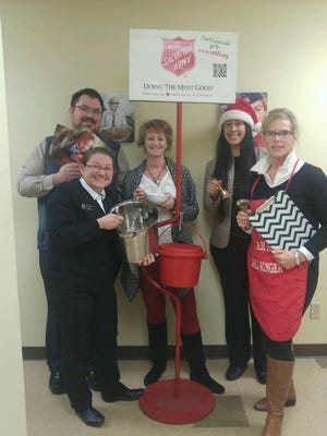 The community invited to give, eat soup and celebrate on #GivingTuesday. The East Wisconsin/UP Michigan Thrivent Member Network pledges to match qualifying personal donations up to $10,000 made to The Salvation Army of Fond du Lac on Giving Tuesday. Pictured are, front row, from left: Fond du Lac Salvation Army Captain Telinda Wilson, East WI/Upper Peninsula Michigan Region Thrivent Financial Community Engagement Leader Susan Matz; back row: Thrivent Financial Associate Ryan Thorpe, Fond du Lac Salvation Army Advisory Board Member Dawn Mueller-Stacey and Fond du Lac Salvation Army Thrift Store Manager Brenda Bertram.
