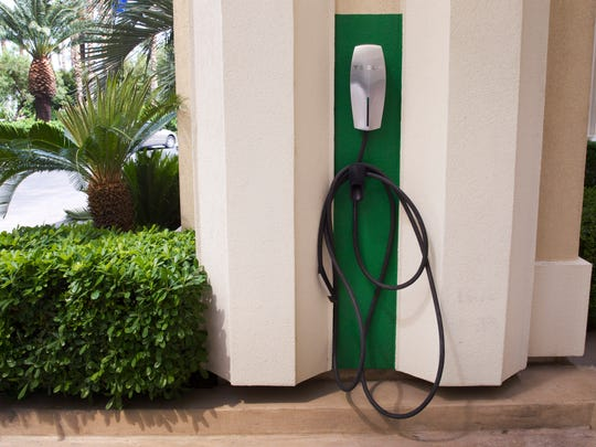 A Tesla charging station is available by the porte-cochere.