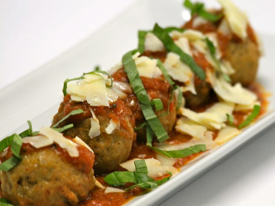 Homemade Meatballs with shaved Asiago cheese are on the menu at SweetWater Bar & Grill in Cinnaminson.