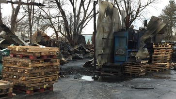 Fire destroys building, equipment at Frankfort pallet company