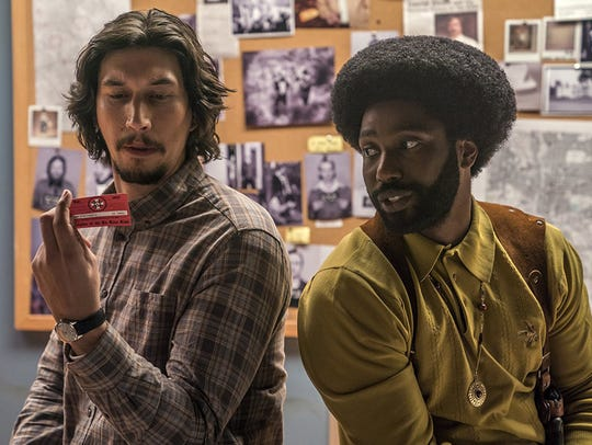 "John David Washington and Adam Driver star in ""BlacKkKlansman."""
