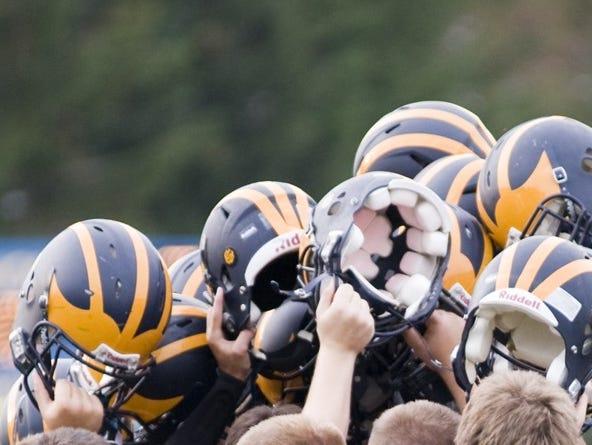 Climax-Scotts football helmets.