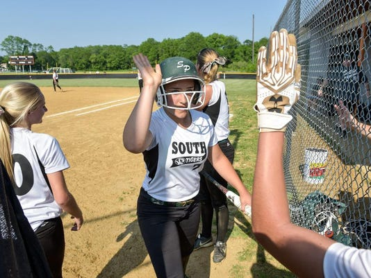 South Plainfield girls visit Middletown North for tournament softball, 5/31/16
