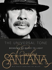 Cover of the book 'Universal Tone: Bringing My Story to Light' by Carlos Santana.