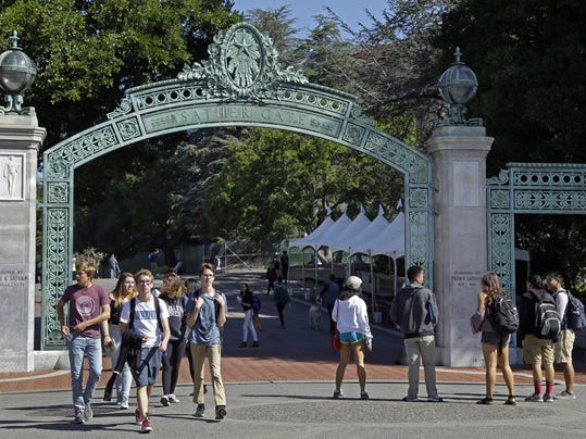 Sather Gate CAL Students,Sather Gate,University of California Berkeley