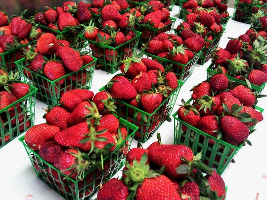 Fresh strawberries.