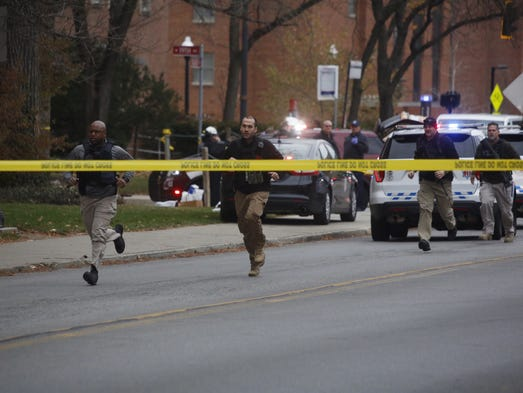 Police respond to reports of an active shooter on campus