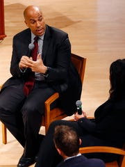 Sen. Cory Booker speaks Pulitzer Prize-winning author