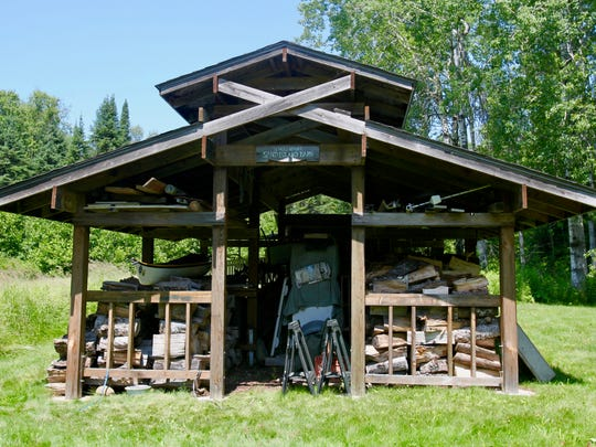 Curt Jensch designed this barn outside his family's cottage on Sand Island in the Apostle Islands National Lakeshore.