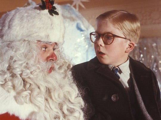 "Jeff Gillen, left, and Peter Billingsley in a scene from the 1983 motion picture ""A Christmas Story."""