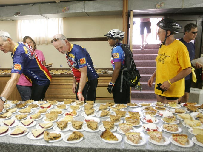 Pie heaven! Riders were amazed by the assortment of