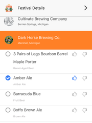 The BeerFestList app offers easy tracking of beers