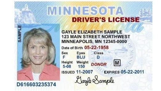 Minnesota driver's license.