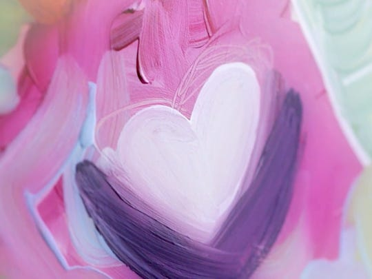 Detail of original artwork created by Rachel and Cordell Cordaro for the ARTrageous Affair Breast Cancer Gala.