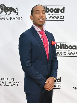 Host Chris 'Ludacris' Bridges arrives at the MGM Grand Garden Arena in Las Vegas for the Billboard Music Awards on May 18, 2014.