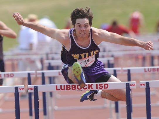 Wylie's Gatlin Martin qualified No. 2 in the boys 110-meter hurdles with a time of 15.10 seconds during prelims at the Region I-4A track and field meet Friday at Lowrey Field in Lubbock. He also qualified No. 3 in the 300 hurdles (39.93).