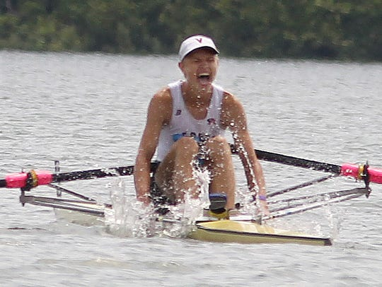 Mark Conwenhoven, of the Vesper Boat Club, Philadelphia,