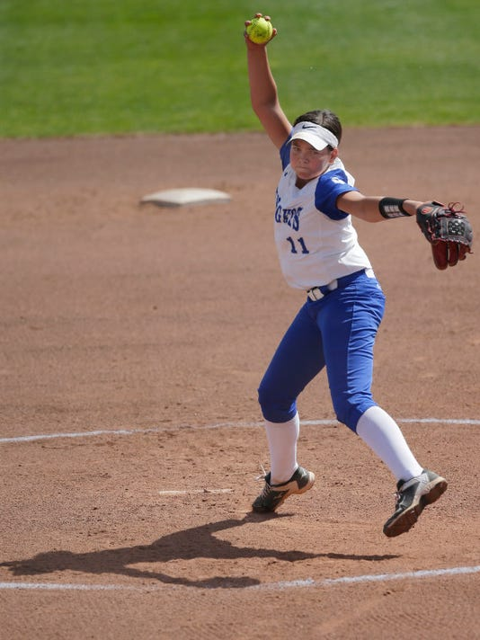 Oak Creek pitcher Becca Oleniczak