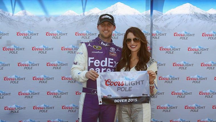 Denny Hamlin, driver of the #11 FedEx Cares Toyota,