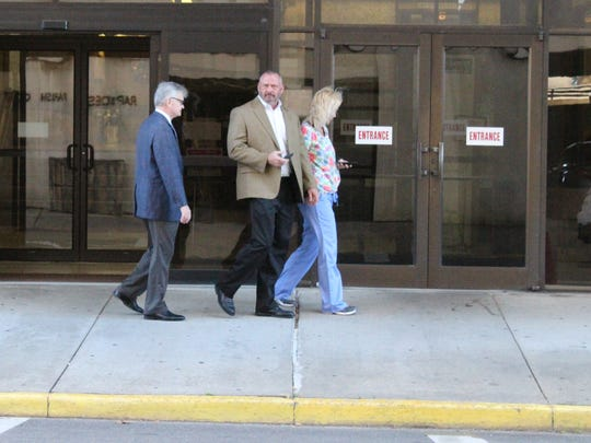 The trial for Stacy Lloyd Bender (center) is scheduled to begin next week.