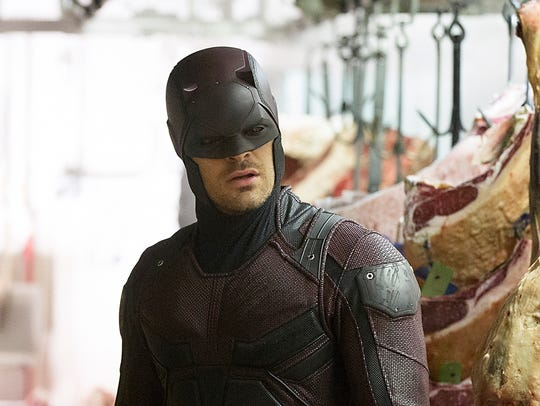 Charlie Cox in a scene from the second season of 'Daredevil.'
