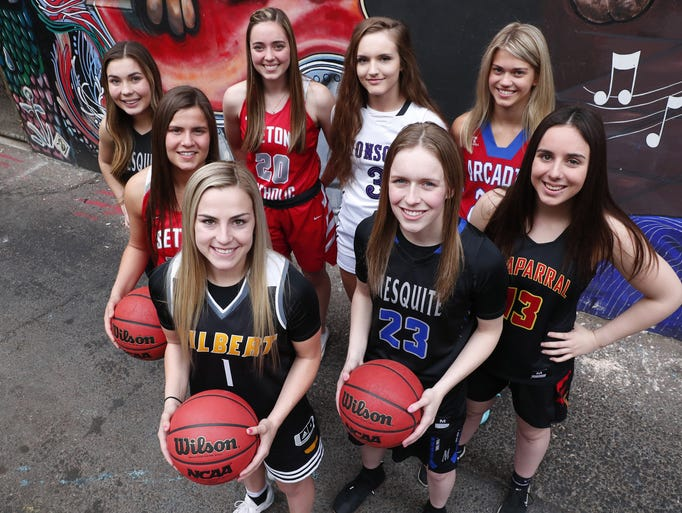 The eight nominees for Arizona High School Girls Basketball