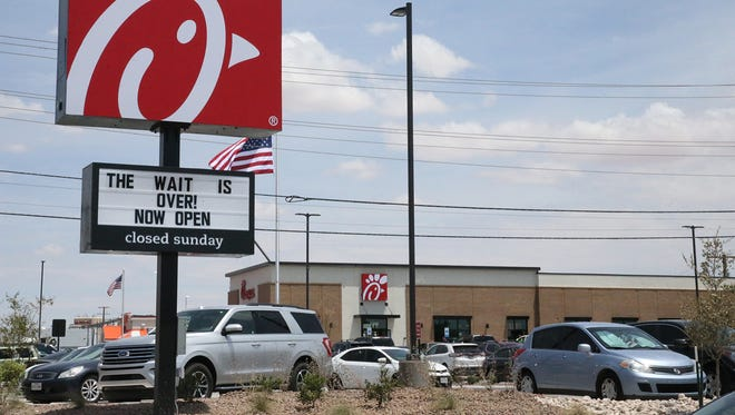 A new Chick Fil A is opening Thursday on the West Side. It will be the eighth one in El Paso.