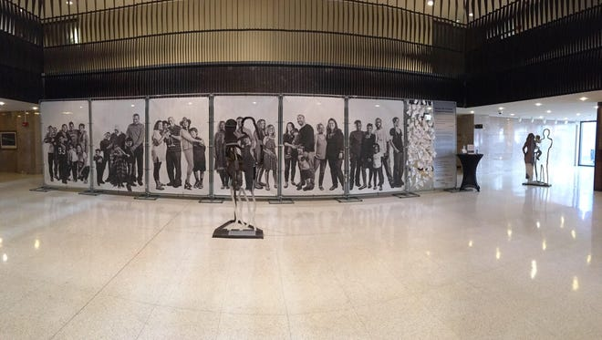 Barrier Free, an art installation designed by Yancy Villa-Calvo for Latino Memphis, is on display at Memphis City Hall.