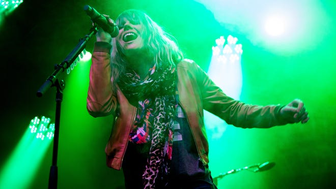 Grace Potter sings during the second day of the Grand Point North music festival on Sept. 13, 2014 on the waterfront in Burlington.