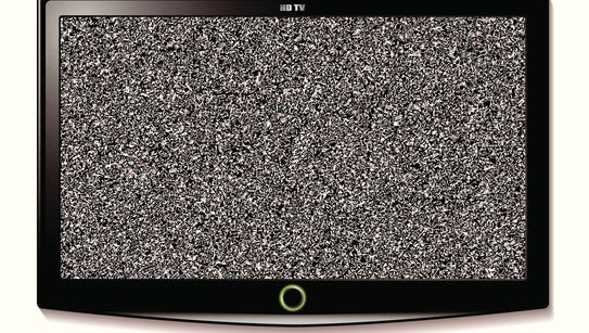 LCD television with static interference