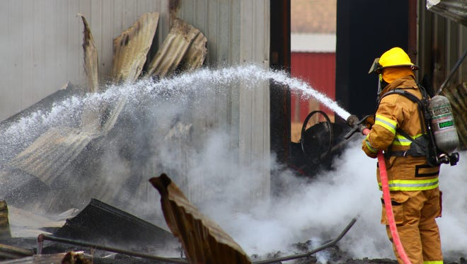 Alamogordo and Otero County firefighters responded to an abandoned shed fire around 1:30 p.m. Saturday in the 80 block of U.S. Highway 82. Firefighters were able to contain and extinguish the fire quickly. No other structures were threatened. No one was injured in the fire. The cause of the fire is under investigation.