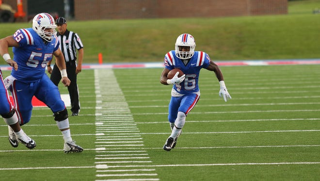 Louisiana Tech wide receiver Marcus Gaines broke his wrist earlier this month at UMass.