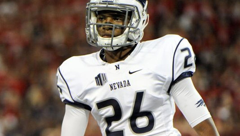 Wolf Pack defensive back Kendall Johnson, who signed