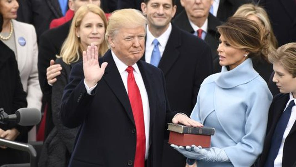 Donald Trump takes the oath of office Friday.