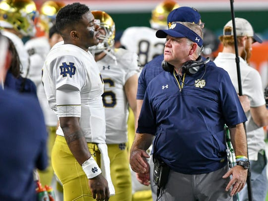 Brian Kelly is looking for more consistency and accuracy