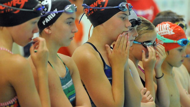 Four-time Olympic silver medalist Kara Lynn Joyce hosts a swimming clinic at the EmBe Fitness and Aquatic Center on Thursday to kickoff this weekend's Snowfox Independence Invitational.