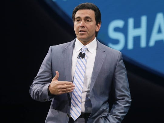 Ford CEO Mark Fields speaks during the Ford unveiling