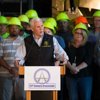 Indiana Gov. Mike Pence announced his 21st Century