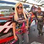 What's more pressure for Courtney Force? Making up 73 points or getting married?