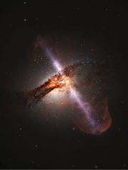 A team of astronomers using the Hubble Space Telescope found an unambiguous link between the presence of supermassive black holes that power high-speed, radio-signal-emitting jets and the merger history of their host galaxies. Almost all galaxies with the jets were found to be merging with another galaxy, or to have done so recently.  The team studied a large selection of galaxies with extremely luminous centers - known as active galactic nuclei - thought to be the result of large quantities of heated matter circling around and being consumed by a supermassive black hole. While most galaxies are thought to host supermassive black holes, only a small percentage of them are this luminous and fewer still go one step further and form what are known as relativistic jets. The two high-speed jets of plasma move almost at the speed of light and stream out in opposite directions at right angles to the disc of matter surrounding the black hole, extending thousands of light-years into space.
