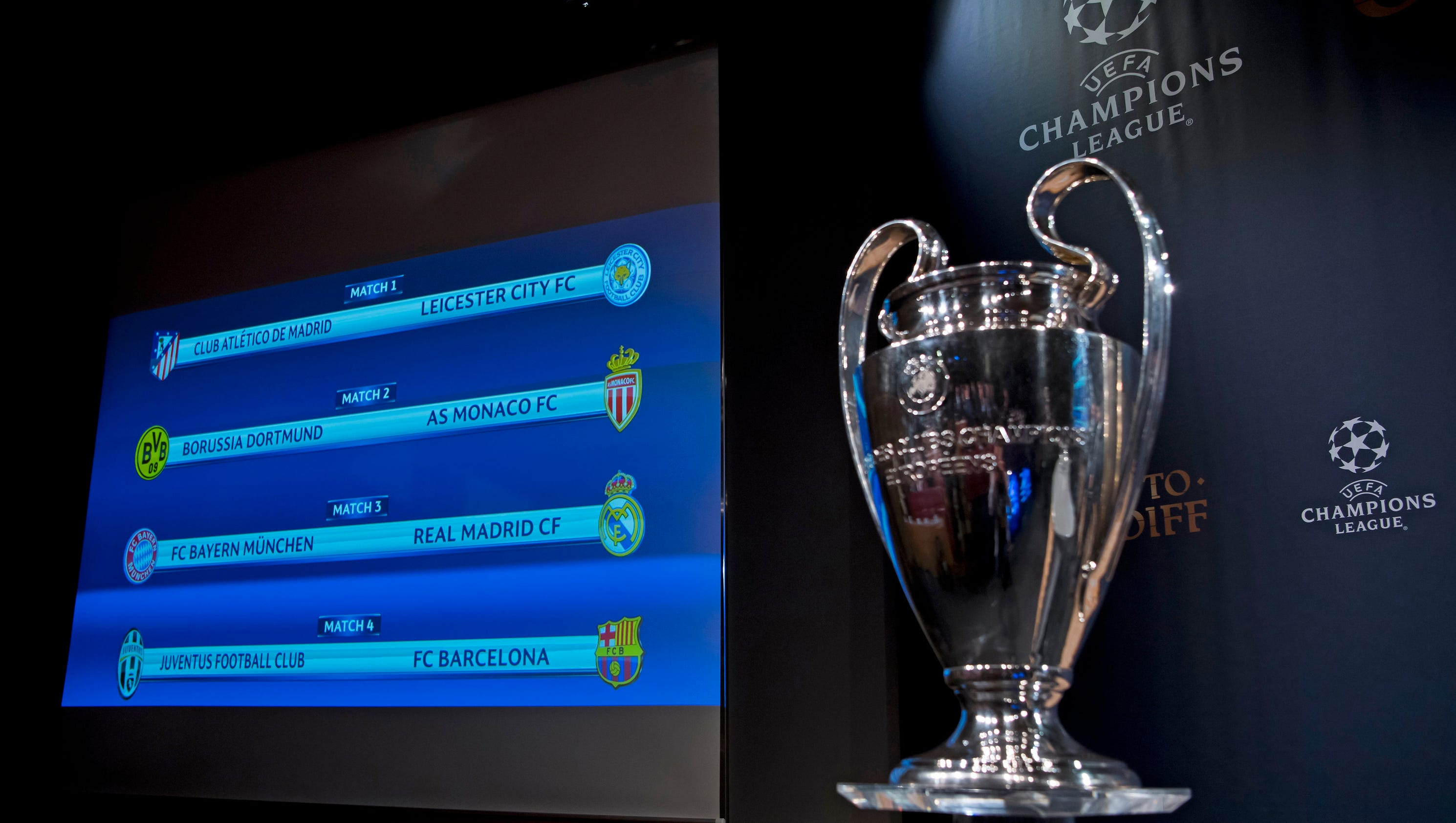 champions league draw real madrid to play bayern munich