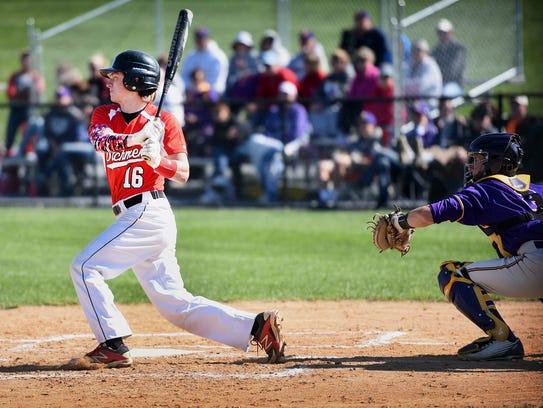 Annville-Cleona's Jordan Seyfert takes a big swing