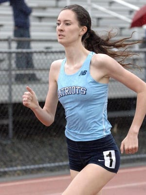 Freehold Township's Ciara Roche competes in the 800-meters at the Monmouth County Championships on Friday afternoon