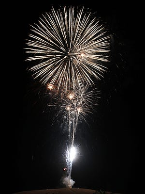 The annual Fourth of July fireworks display in Farmington takes place July 3, 2012. This year's display in Farmington will be held on Monday.