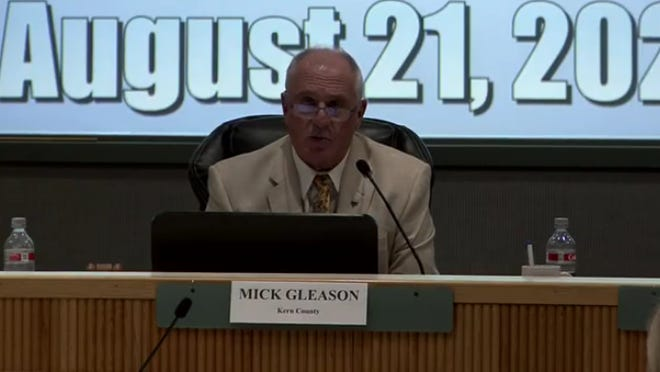 IWVGA Chair Supervisor Mick Gleason speaks out immediately after the basin replenishment fee public hearing failed on Friday.