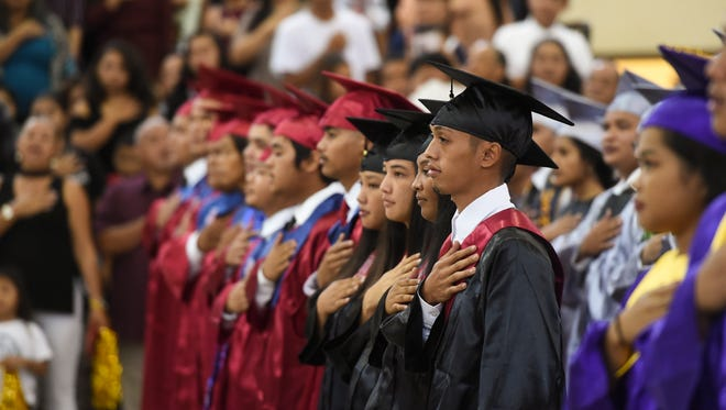 The Guam Department of Education graduated 127 high school students from seven public schools during the Guam Department of Education Rainbow Graduation 2018 at the Okkodo High School Gymnasium, July 27, 2018.