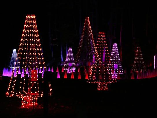 Trees illuminate to music at Westchester's Winter Wonderland