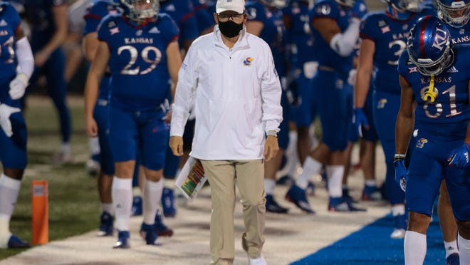 Kansas football coach Les Miles and the Jayhawks lost their season opener to Coastal Carolina 38-23 on Sept. 12 in Lawrence. KU will next take on Baylor at 6:30 p.m. Saturday at McLane Stadium in Waco, Texas.